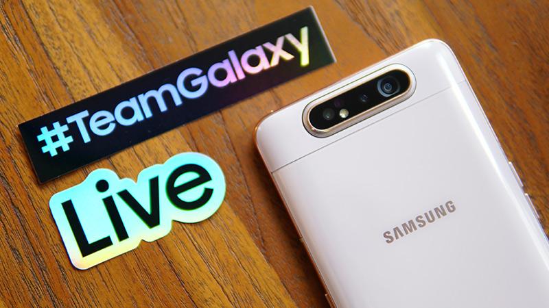 Samsung Galaxy A82 โทรศัพท์เรือธงกล้องหมุน