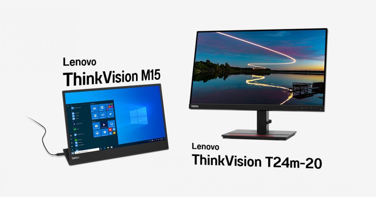 """ThinkVision T24m20"" มอนิเตอร์ตั้งโต๊ะจอ IPS จาก Lenovo"